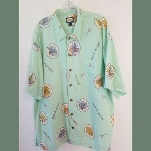 Tommy Bahama SS Cocktail Button Down Shirt XL